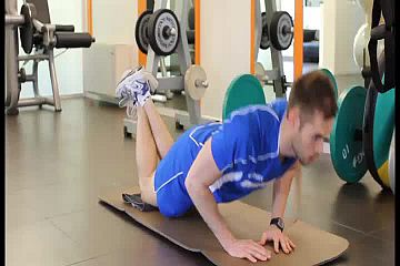 Kneeling diamond push up